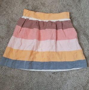 Loft linen blend skirt